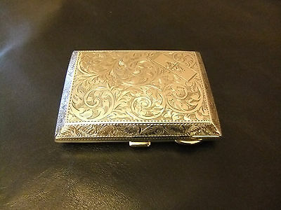 SILVER CIGARETTE CASE BIRMINGHAM 1924 MAKER JOHN ROSE PRISTINE CONDITION 100g