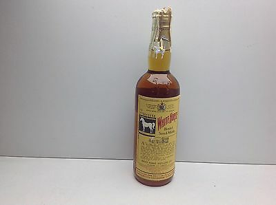 OLD BOTTLE WHISKY WHITE HORSE BLENDED SCOTCH WHISKY SPRING CAP YEARS 50/60,s