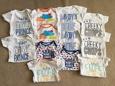 Twin Boys Mixed Bodysuit Bundle 0-3 Months