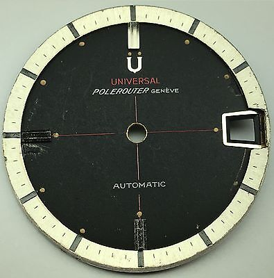 Rare Universal Genève Polerouter Sector Dial ca. 1960