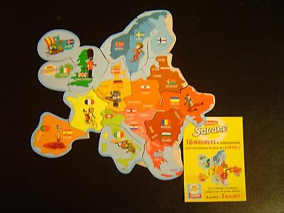 Magnets Brossard EUROPE Collection Complète 16 magnets Neuves