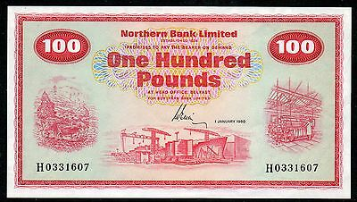 Northern Ireland - Northern Bank £100 note - 1980 - Ervin - Last date of issue