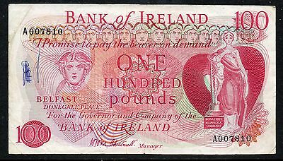 Northern Ireland - Bank of Ireland - £100 note - FIRST RUN - *CHESTNUTT* - 1974