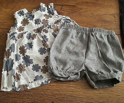 Girls shorts and top aged 9-12 months