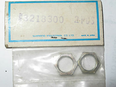 2 NOS Shimano Bicycle 3 Speed Hub Part Threaded Bell Crank Axle  3218300 1980s