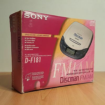Discman Sony compact player D-F181 Groove AM/FM