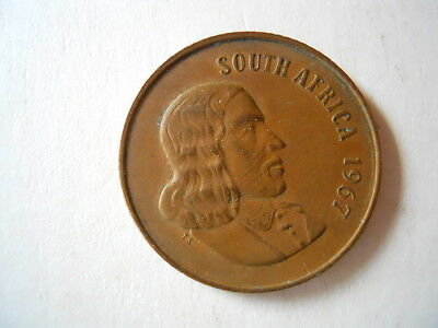 1967 South Africa 2 cent coin