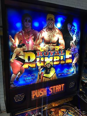 WWF Royal Rumble Pinball Machine By Data East With LED's WIDE BODY