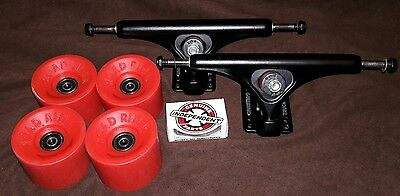 Gullwing Reverse Longboard Black Trucks with Road Rider Wheels and Hardware