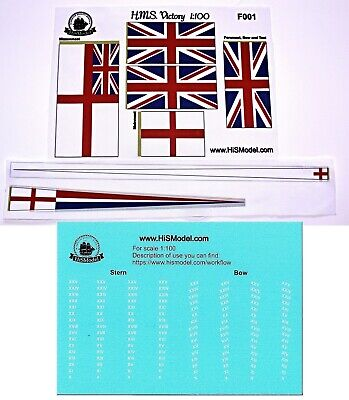 Heller HMS Victory - set of flags for model, 1:100