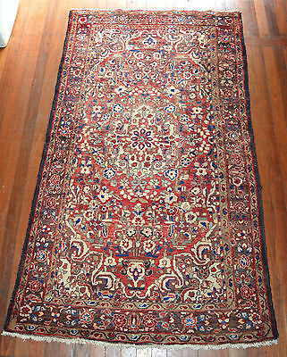 Large Hand Knotted Mahal Persian Wool Pile Rug