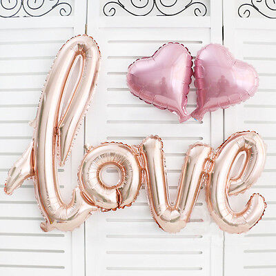 Cute 1 Set Love Rose Gold Foil Balloon Birthday Wedding Party Decorations New