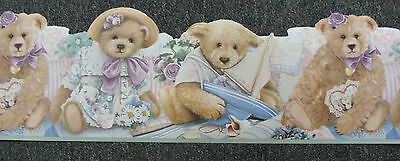 Nursery Wallpaper Freeze Frieze Border Vintage Teddy Bear Lazer cut edging