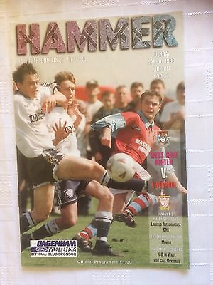 West Ham v Liverpool  FA Youth Cup Final 1st Leg 1996