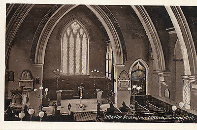 Interior Protestant Church Mountmellick Laois Ireland Postcard Harte Stationer