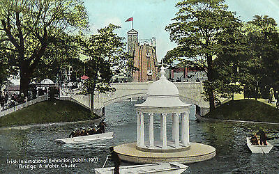 Irish International Exhibition Dublin 1907 Bridge & Water Chute 1907 Postcard