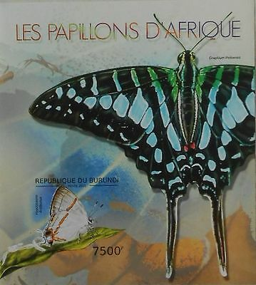 Butterflies of Africa butterfly Insects Burundi 2012 s/s Sc.1232 MNH #BUR12613b