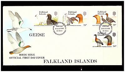 Falkland Islands Birds Cover. Geese. 1988. Postmarked.  #957