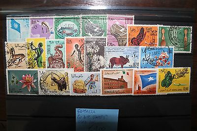 Somalia 20 Different Stamps Used Lot (Cat.x)