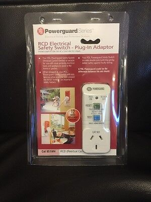 PDL 951WH 10A Plug In Earth Leakage RCD Surge Protect Safety Switch / Plug
