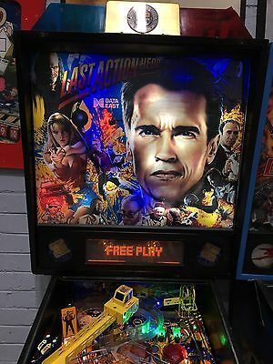 Last Action Hero Pinball Machine By Data East With LED's