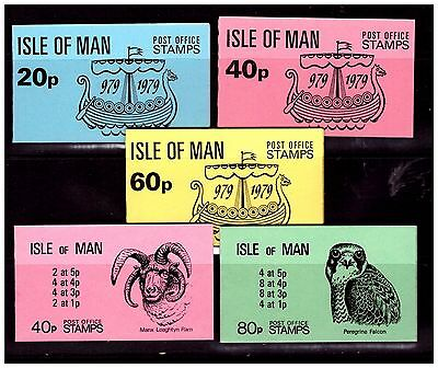 Isle Of Man Stamp Booklets x 5. Boat & Animals. Mint. #1084