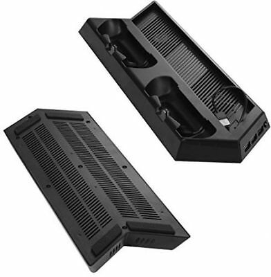 Younik VG-09 PS4 Pro Vertical Stand Cooling Fan with Dualshock Controller Chargi