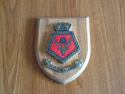 HMS RALEIGH shield plaque crest Royal Navy RN naval