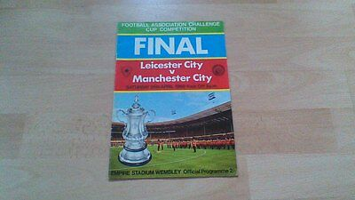 1969 FA CUP FINAL; Leicester City v Manchester City; programme