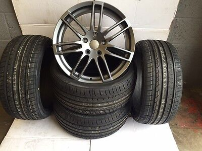 """18""""rs4 gunmetal alloy wheels with tyres volkswagen vw t5 vauxhall insignia"""