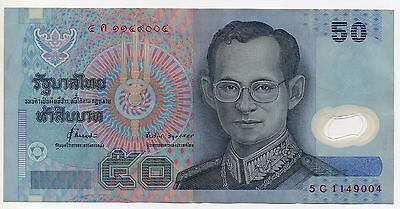 Thailand ~  50 Baht Banknote ~ Polymer ~ 5 C 1149004