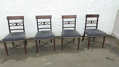 4 Mahogany William IV Dining Chairs