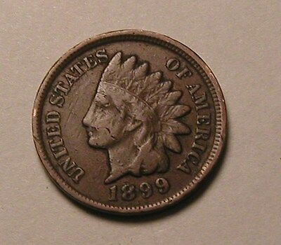 1899 Indian Head Cent,partial Liberty,nice Coin!!!(R)