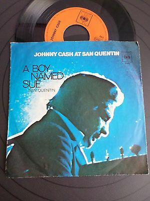 """Johnny Cash At San Quentin  A Boy Named Sue 7"""""""