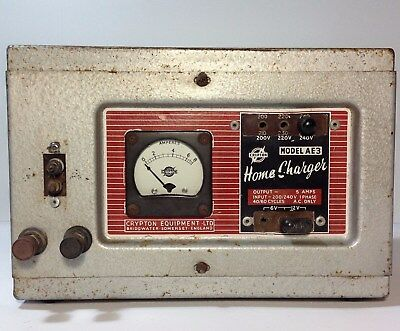Vintage CRYPTON 6 & 12 Volt Battery Charger