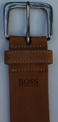 Hugo Boss Tan Colour genuine leather belt  Size 36 .Made in Italy