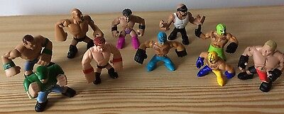 10 X WWE Rumblers Figures