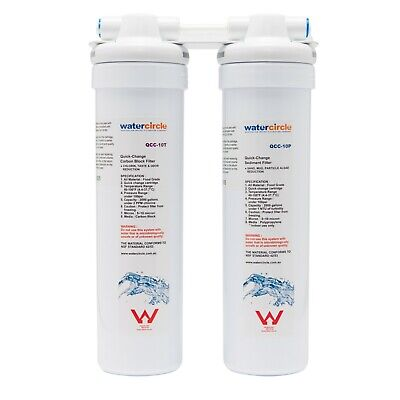 Watercircle Twin Quick Change water filter no accessories sediment+ 5 micron cto