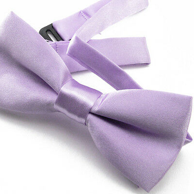 Noeud Papillon Enfant Réglable Satin Lavande - Children Bow Tie Adjustable