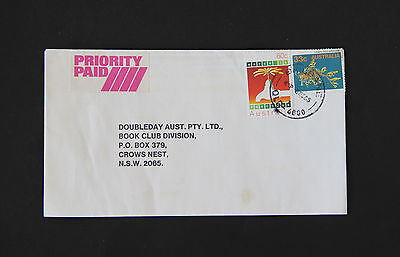 1985 BRISBANE QLD priority paid commercial cover water conservation marine life
