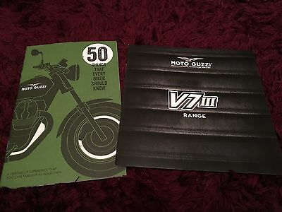 Moto Guzzi V7 III Motorcycle Range Brochure 2017 plus 50 things guide