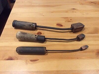 3 Vintage Soldering Iron Tools; Copper Head; Old Tool; Hand Tool