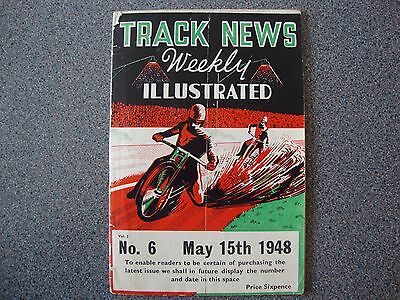 Speedway Track News Weekly Illustrated Vol 2 #6 15/5/1948 27 Pages.