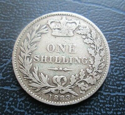 1883 Victoria Young Head Silver Shilling