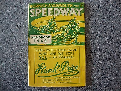 Norwich And Yarmouth Speedway Handbook 1949, 64 Pages.  Rare Item!!!!!!!!