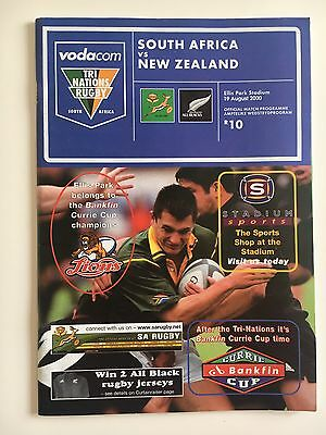 Tri Nations South Africa Vs New Zealand Rugby Programme 2000
