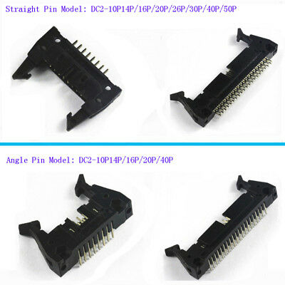 2.54mm Straight&Angle Pins Box Header Buckle Connector DC2 ISP JTAG Plug Socket