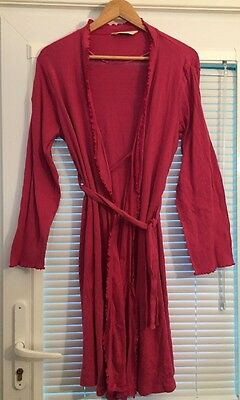 Blooming Marvellous Ladies Maternity Cerise Pink Dressing Gown Size L