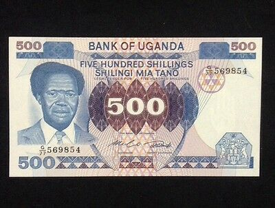 Uganda UNC 500 Shillings 1983 Banknote World Currency Paper Money