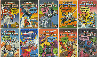 LOT OF 10 TRANSFORMERS LADYBIRD BOOKS; used